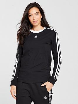 adidas-originals-3-stripes-long-sleeve-top-blacknbsp