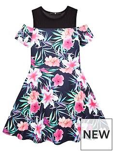 v-by-very-girls-black-floral-dress