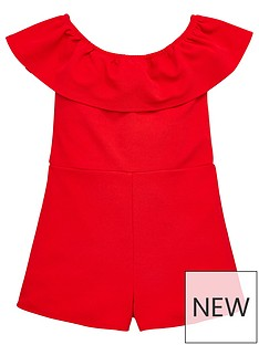 v-by-very-girls-red-frill-bardot-playsuit