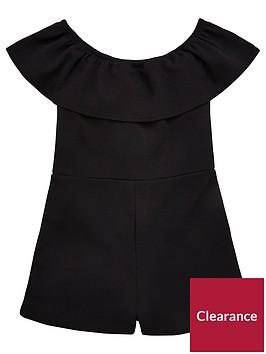 v-by-very-girls-black-frill-bardot-playsuit