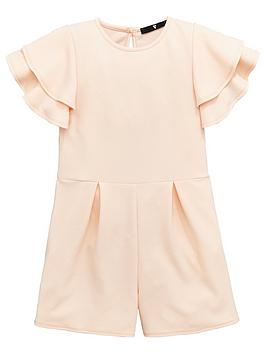 v-by-very-girls-pink-frill-sleeve-playsuit
