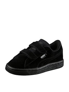 puma-suede-classic-2-straps-childrens-trainers-black