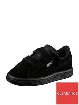 puma-suede-classic-2-straps-childrens-trainers-black