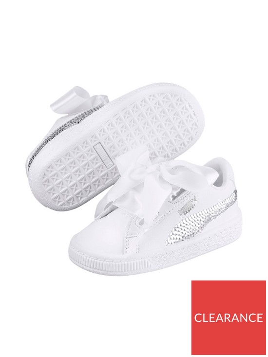 312d58a006b139 Puma Basket Heart Bling Children Trainer