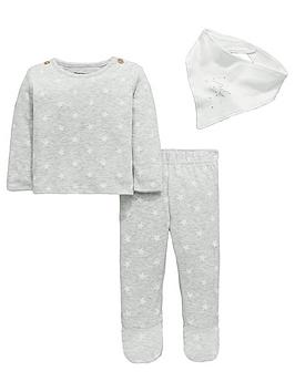 mini-v-by-very-baby-unisex-aop-star-marl-set-with-bib
