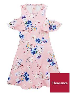 v-by-very-floral-cold-shoulder-dress-pinknbsp