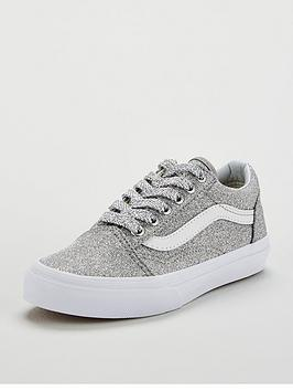 vans-old-skool-glitter-junior-trainers-sliverwhite