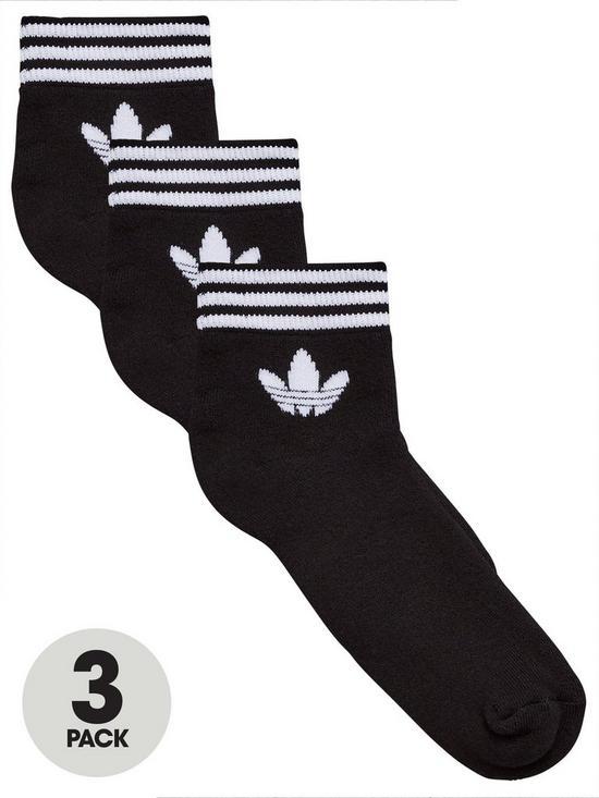 af931192de53 adidas Originals Trefoil Ankle Sock (3 Pack) - Black