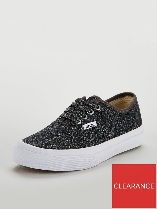 8edab6dc5fea1c Vans Authentic Glitter Junior Trainer - Black Glitter