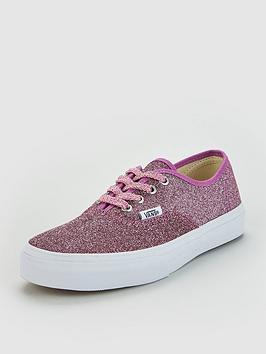 vans-authentic-glitter-junior-trainers-pinkglitter