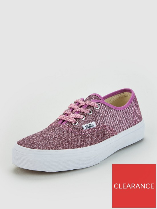 2d7840b9de Vans Authentic Glitter Junior Trainers - Pink Glitter