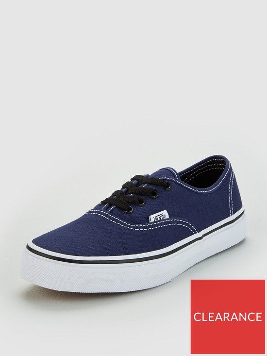 a0748656cb Vans Authentic Junior Trainers - Navy