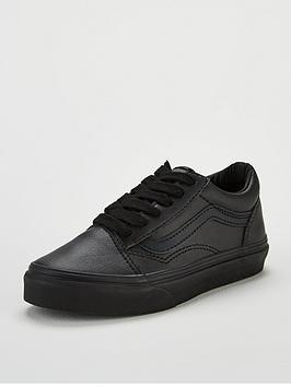 vans-old-skool-leather-junior-trainer