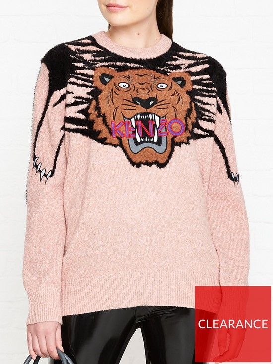 9a8cec4f79 Kenzo Claw Tiger Jumper - Pink | very.co.uk