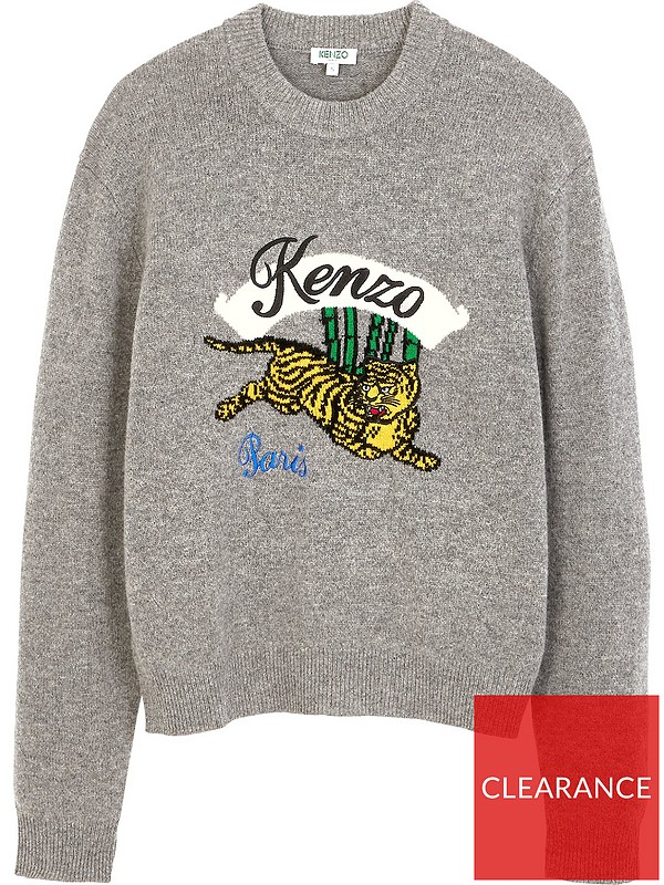 6691e1d2937 ... Kenzo Jumping Tiger Intarsia Jumper - Grey. £147.00. Swipe for more  images. Double tap to zoom
