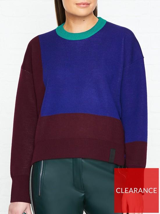 a6302c405ccde Kenzo Reversible Cashmere Blend Colour Block Jumper - Multicolour ...