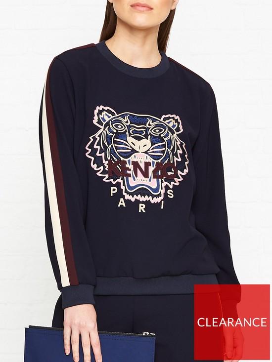 f9271583 Kenzo Tiger Head Crepe Sweatshirt - Navy | very.co.uk