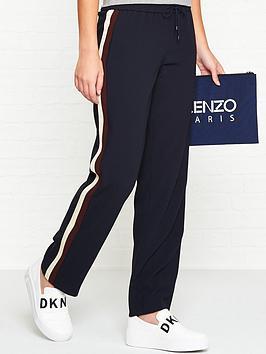 kenzo-side-stripe-crepe-trousersnbsp--navy