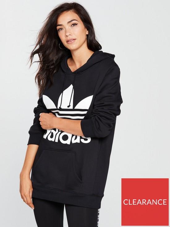 23f8be936e1b adidas Originals Boyfriend Trefoil Hoodie - Black