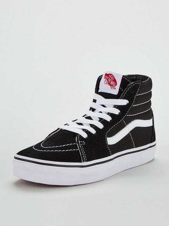 483cbae90da7 Vans Sk8-Hi Junior Trainer - Black