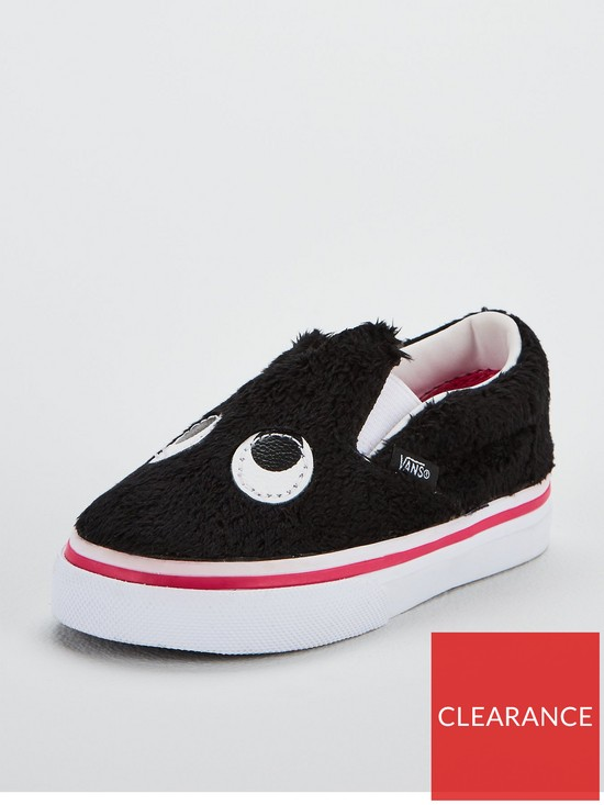 c52a336455 Vans Slip-On Friend Monster Infant Trainers - Black