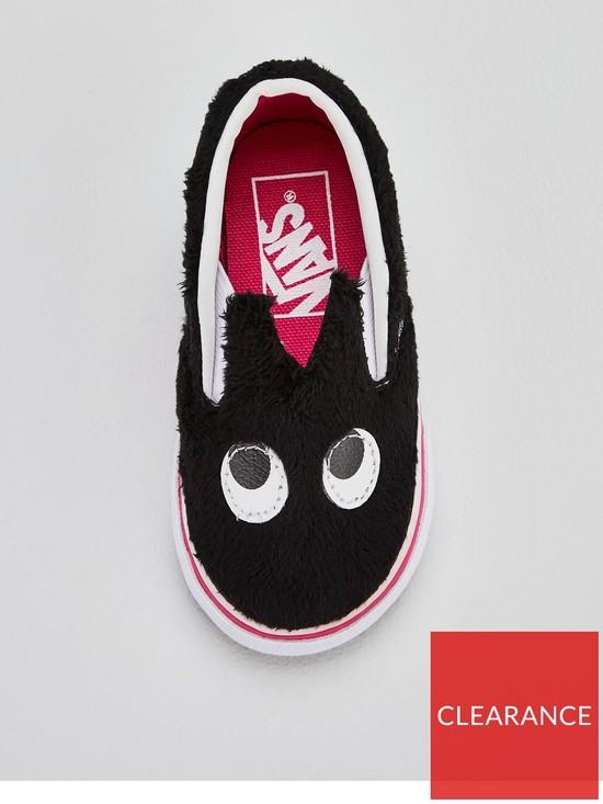 71d5563cd3 ... Vans Slip-On Friend Monster Infant Trainers - Black. View larger