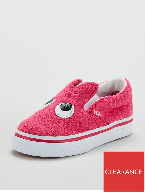 a59cf7aae3 Vans Slip-on Friend Monster Infant Trainers - Pink White