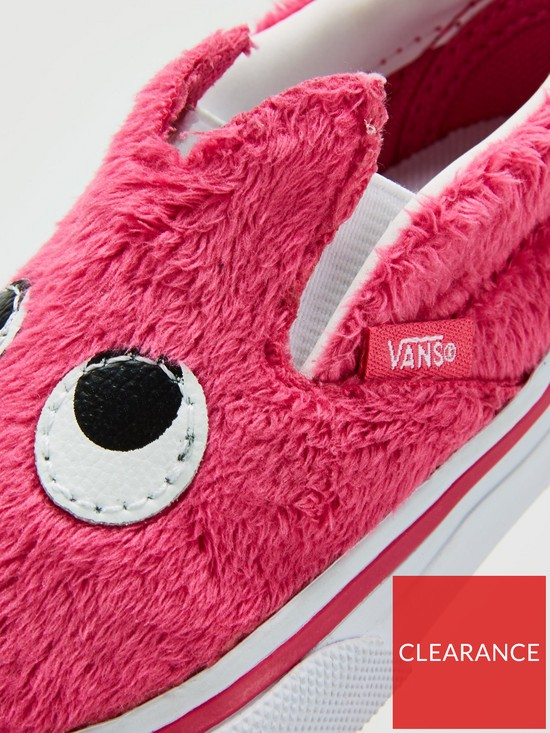 c05976bcd1 ... Vans Slip-on Friend Monster Infant Trainers - Pink White. View larger