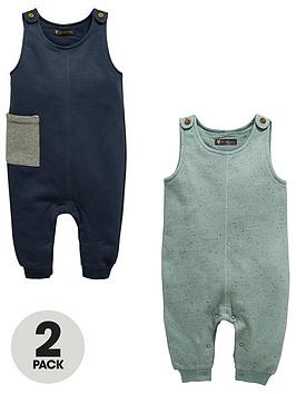 mini-v-by-very-baby-boys-2pk-plain-amp-neppy-jersey-dungarees