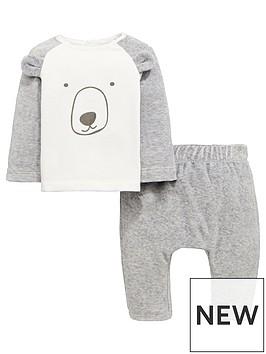 mini-v-by-very-baby-unisex-bear-velour-jog-set