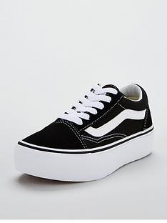 vans-old-skool-junior-platform-trainers-black