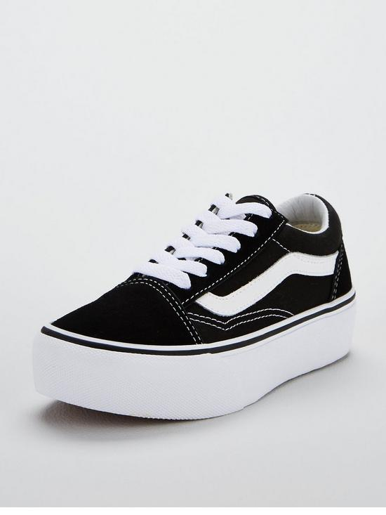 8b7fa3079fa Vans Old Skool Junior Platform Trainers - Black
