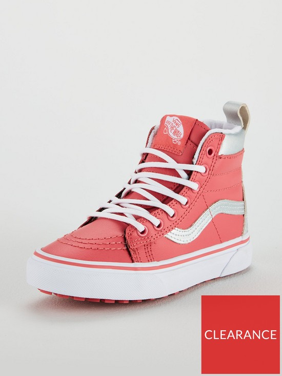 8c22b2d83d11 Vans Sk8-Hi All Weather Junior Trainers - Pink