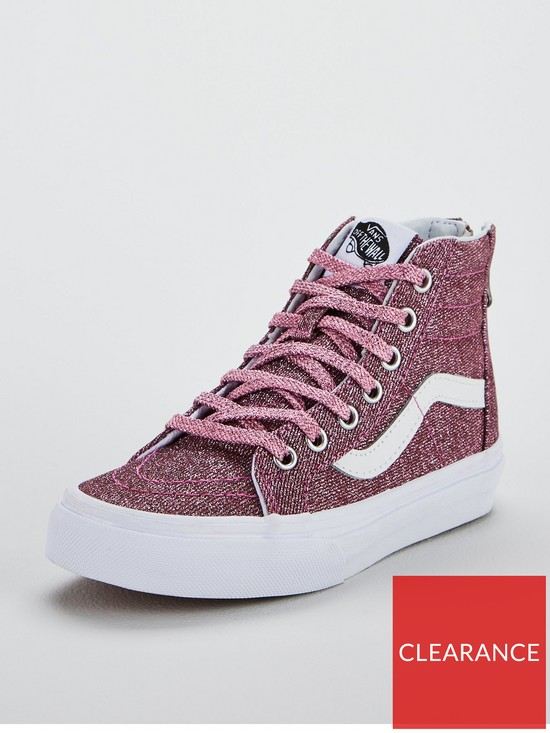 efc1cf3c1e8 Vans Sk8-Hi Zip Junior Trainer - Pink