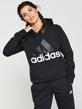Adidas Essentials Linear Hoodie - Black