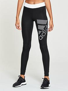 adidas Alphaskin Sport Logo Tight - Black 4af6c818a26