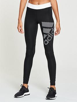 Adidas Alphaskin Sport Logo Tight - Black