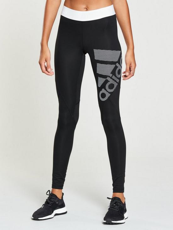 ba02848865f adidas Alphaskin Sport Logo Tight - Black