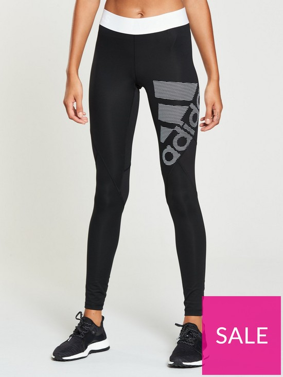 76950fcac55e2 adidas Alphaskin Sport Logo Tight - Black | very.co.uk