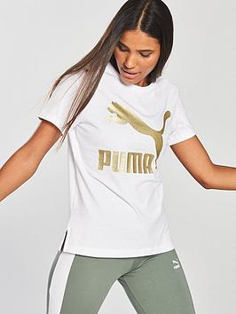 Puma Classics Logo T-Shirt - White