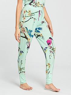 b-by-ted-baker-flight-of-the-orient-printed-jersey-pant-green