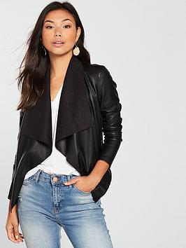 v-by-very-pu-waterfall-jacket-black
