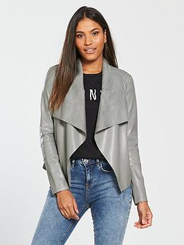 v-by-very-pu-waterfall-jacket-grey
