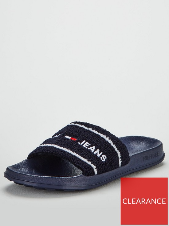 4b05519b Tommy Hilfiger Summer Sliders - Midnight | very.co.uk