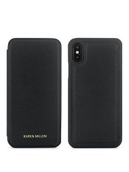 karen-millen-iphone-x-folio-black
