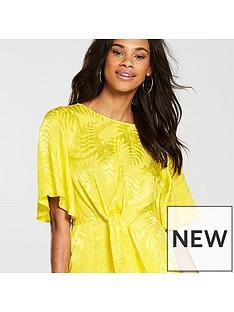 v-by-very-knot-front-midi-dress