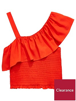 v-by-very-girls-off-the-shoulder-frill-top-red