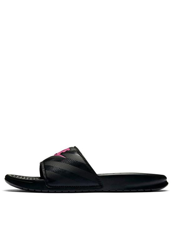 24bf7514551f ... Nike Benassi JDI Slider - Black Pink. View larger