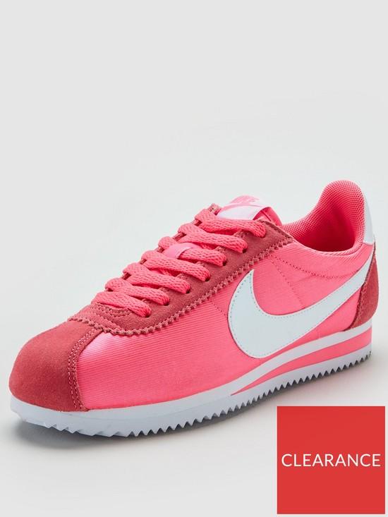 wholesale dealer dc5d1 0aaff Nike Classic Cortez Nylon - Pink White   very.co.uk