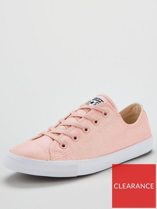 0cc849e19d3f96 Converse Chuck Taylor All Star Glitter Dainty Ox - Pink